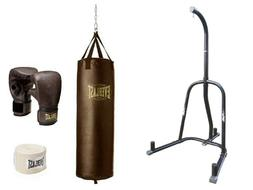 Everlast 100 lb Heavy Bag Kit With Single-Station Stand Valu