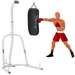 100 lb Single Station Heavy Punching Bag Boxing Stand White