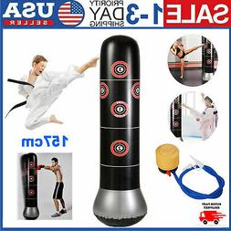 157 cm Adult Kids Inflatable Punching Bag Boxing Standing Tu