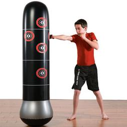 160cm Training Punching Bag Fitness Boxing Inflatable Vent F