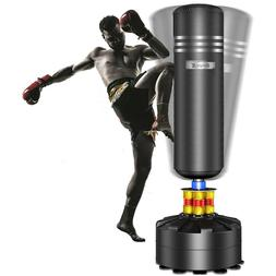 5.7FT Boxing Free Spring Standing Punch Bag Stand MMA Martia