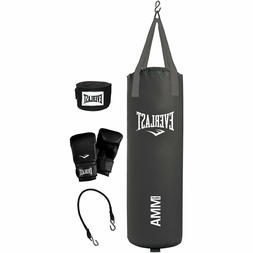 Everlast 70 Pound MMA Heavy Bag Kit Punching Gloves Boxing S