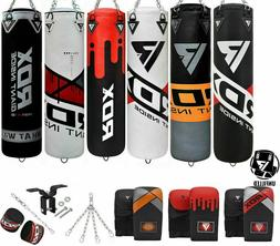 RDX 8pc Punching Bag Unfilled Heavy Boxing 4FT 5FT MMA Train