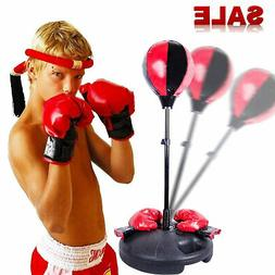 Adjustable Height Kids Punching Ball Bag Speed Boxing Sports