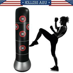 Adult Inflatable Free Standing Punching Bag Training Fitness