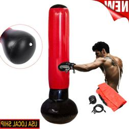 Adult Inflatable Punching Bag Strength Training Stand Boxing