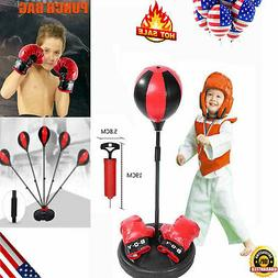 Adult Kids Punching Ball Bag Boxing Punch Exercise Sports Se
