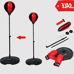 Kids Punching Ball Bag Boxing Punch Exercise Sports Set With