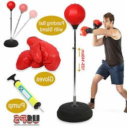 Boxing Bag with Stand Freestanding Punching Ball Speed Bag w