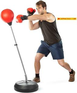 Tech Tools Boxing Ball Set With Punching Bag, Boxing Gloves,