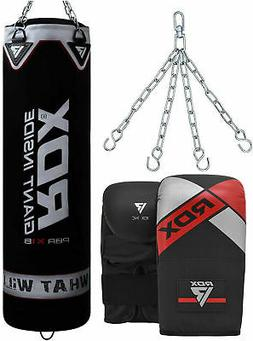 RDX Punching Bag UNFILLED Kick Boxing Heavy MMA Training Glo