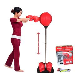 Boxing Punching Speed Ball  Bag  Fitness with Gloves Teens,