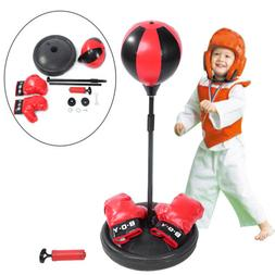 Children Boxing Set Glove Stand Exercise Equipment Punching