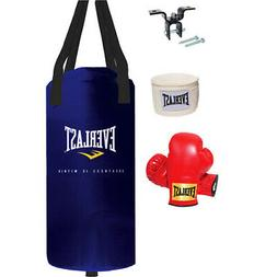 Boxing Workout Starter Kit Nevatear Heavy Bag 25 lbs Youth P