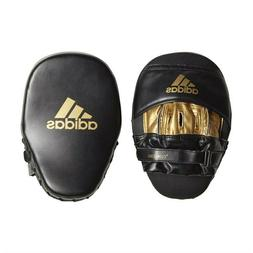 adidas Climacool Curved Focus Boxing Mitts Black and Gold