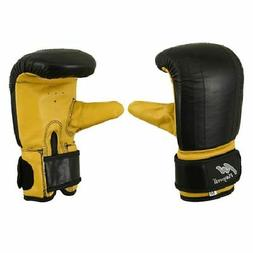 Deluxe Full Leather Bag Gloves MMA Punch Pad Training Mitts