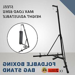 Dual Station Heavy Punching Bag Boxing Stand MMA Trainer Fit