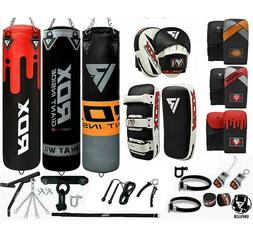 RDX Unfilled Punching Bag  Kick Boxing Gloves Chains MMA Tra