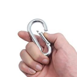 Stainless Steel Spring Snap Hook Carabiner Home Gym Body Bui