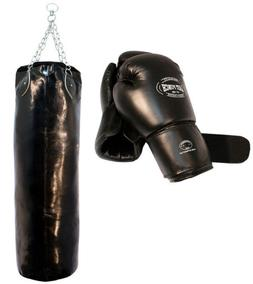 Heavy Duty Pro Boxing Gloves & Pro Huge Punching Bag with Ch