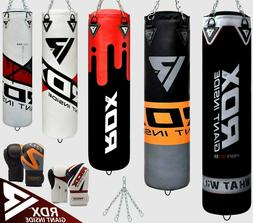 RDX Heavy Duty Punching Bag Boxing Gloves 60 LB MMA Kickboxi