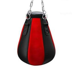 Heavy Punch Bag Maize Pear Angle Unfilled MMA Boxing Gloves