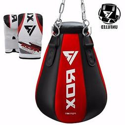 RDX Heavy Punch Bag Maize Pear Angle Unfilled MMA Boxing Glo