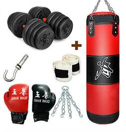 MaxxMMA Double End Striking Punching Bag Kit w//gloves and pump!