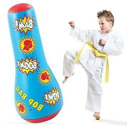 Hoovy Inflatable Punching Bag for Kids: Free Standing Boxing