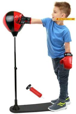 Inchoi Joysae Standing Boxing Set With Punching Ball And Glo