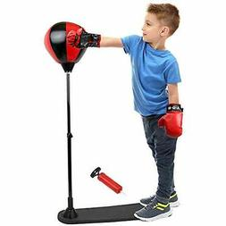JOYSAE Standing Punching Bags Boxing Set With Ball Gloves Fo