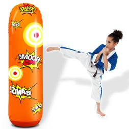 Novelty Place Kid's Inflatable Punching Bag Free Standing So