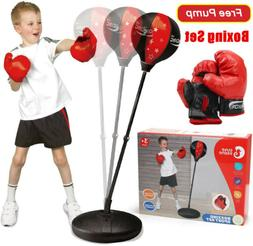 Kids Adjustable Punch Ball Bag Speed Boxing Exercise Toys Se