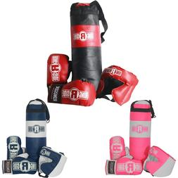 Ringside Kids Boxing Kit Training Bag Set Punching Bag Glove
