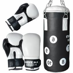 Kids Junior Heavy Filled Punch Bag with Gloves, Iron Ceiling