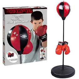 INSTEN Kings Sport Boxing Punching Bag With Gloves Punching