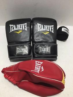 Everlast Kit Boxing Gloves 4 Lbs Speed Bag Red and Hand GRAP