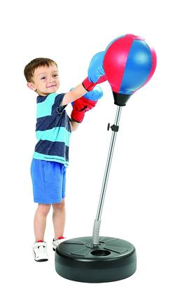 Knock Out Boxing Punching Speed Bag with Adjustable Stand &