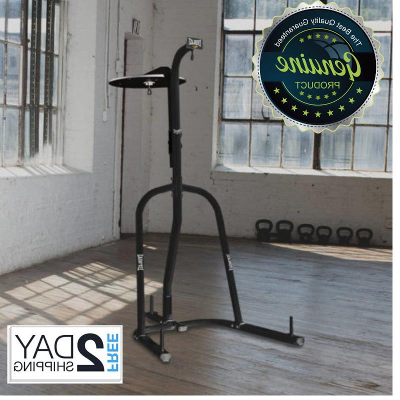 2 station heavy and speed bag stand