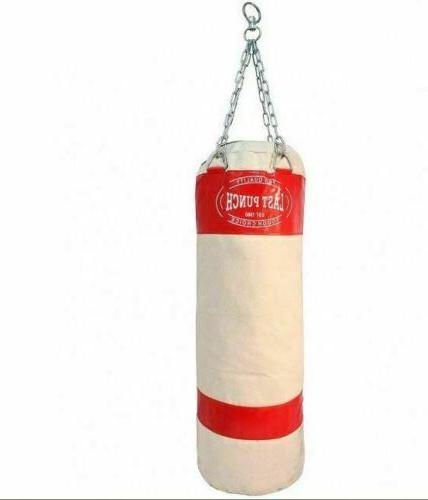 """50"""" CHAINS Sparring Kick MMA Boxing Training Canvas Duty"""