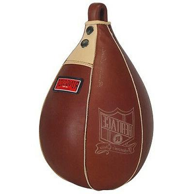 boxing heritage leather speed bag