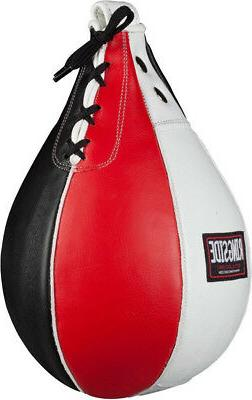 boxing leather speed bag