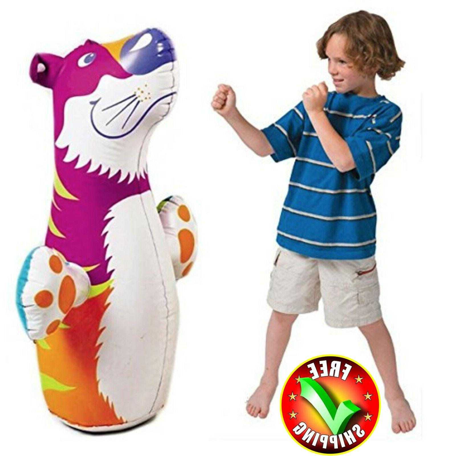 """Children Punching Bag 38"""" Boxing Kid Inflatable Practice Tra"""