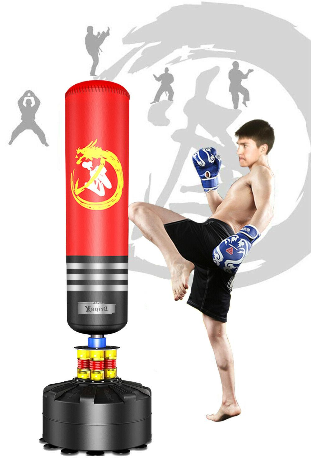NEW FREE STANDING PUNCHING BAG Boxing Cardio Gray Kickboxing MMA By Everlast