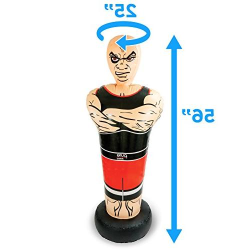 "Pure Boxing Inflatable Free-Standing ""Tough Guy"" with Bounce-Back Ages"