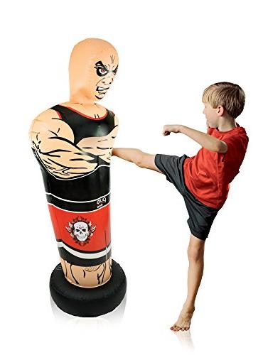 "Pure Boxing Inflatable Free-Standing ""Tough with Bounce-Back Ages"