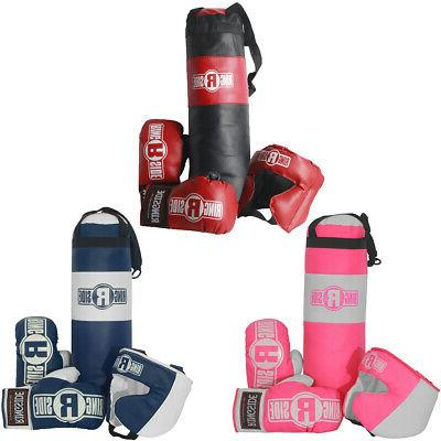 kids boxing set with mini heavy bag