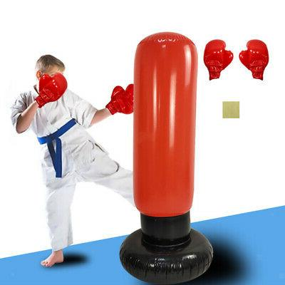Kids Outdoor Stress Boxing Set Punch Gloves