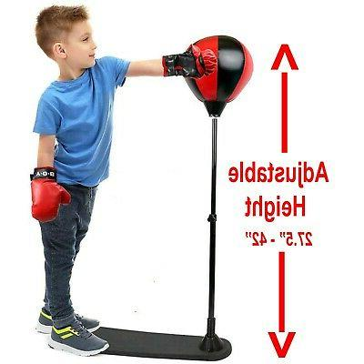 Kids Punching Gloves Stand Exercise