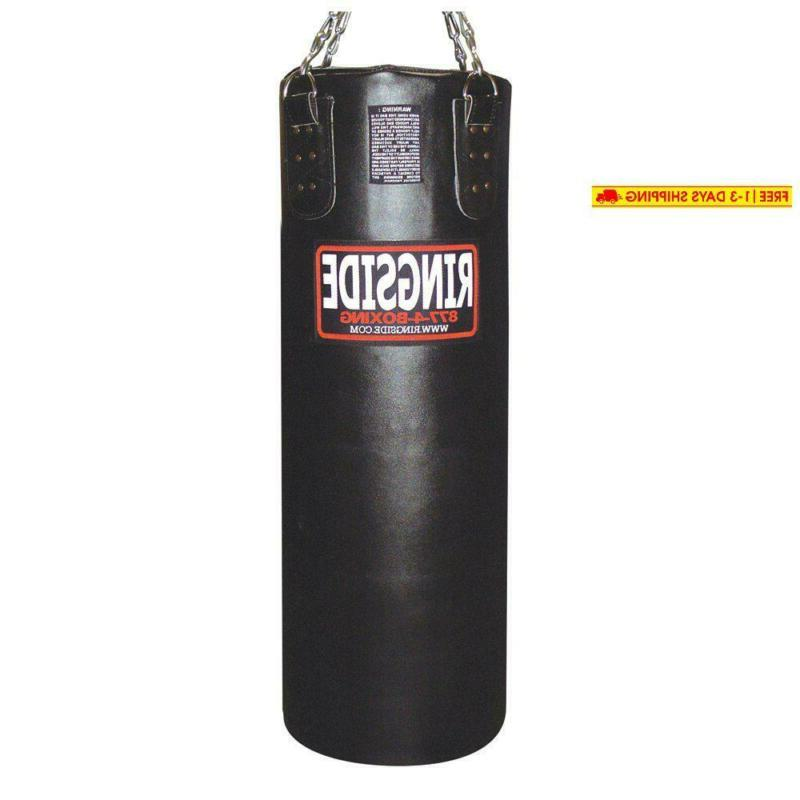 leather 100 lb heavy bag filled
